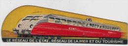 """Marque Page – Train - Chemin De Fer """"le Réseau De L'état"""" Réseau De La Mer Et Du Tourisme. - Marque-Pages"""