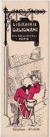 Deux Marque Page – Illustrateur Joé Bridge - Librairie Galignani 224 Rue De Rivoli Paris. - Marque-Pages