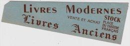Marque Page - Librairie Stock – Livres Modernes – Livres Anciens – Place Du Théâtre Français. - Marque-Pages
