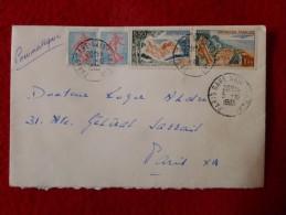 PNEUMATIQUE 4 TIMBRE  CACHET PARIS GARE 1965 - Marcophilie (Lettres)
