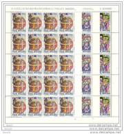 1985 Vaticano Vatican S. METODIO 20 Serie Di 3v. In Foglio MNH** Sheets - Nuovi