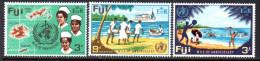 Fiji QEII 1968 3/- WHO Set Of 3, MNH - Fiji (...-1970)