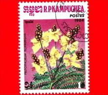 KAMPUCHEA - Cambogia - 1984 - Fiori - Flowers - Peltophorum Roxburghi - 1 - Kampuchea