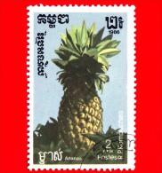 KAMPUCHEA - Cambogia - 1986 - Frutti - Ananas - Pineapple - 2 - Kampuchea