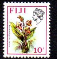 Fiji QEII 1971 10c Flowers Definitive, MNH - Fiji (1970-...)