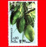 KAMPUCHEA - Cambogia - 1986 - Frutti - Mango - 0.80 - Kampuchea