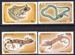 Fiji QEII 1986 Reptiles Set Of 4, MNH - Fiji (1970-...)