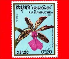 KAMPUCHEA - Cambogia - 1988 - Fiori - Orchidee - Cattleya Aclandiae - 0.20 - Kampuchea