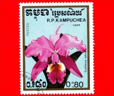 KAMPUCHEA - Cambogia - 1988 - Fiori - Orchidee - Cattleya Labiata - 0.80 - Kampuchea