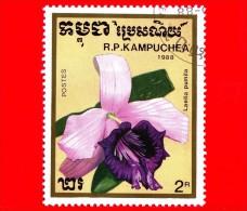 KAMPUCHEA - Cambogia - 1988 - Fiori - Orchidee - Cattleya Pumila (syn.Laelia Pumila) - 2 - Kampuchea