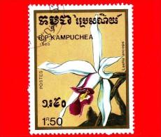 KAMPUCHEA - Cambogia - 1988 - Fiori - Orchidee - Laelia Anceps - 1.50 - Kampuchea