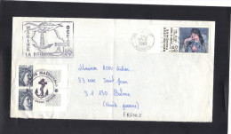 Marine , La Réunion , Océan Indien .  Marine Nationale . Unité Marine Réunion . 1982 . Journée Du Timbre . - Marcophilie (Lettres)