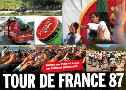 "Tour De France 1987 - ** Cp Pub ""Pelforth Brune"" Animateur; Alain FARELLI ** - CP - TB - Cyclisme"