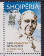 ALBANIA, 2014, MNH, POPE, POPE FRANCIS, 1v - Pausen