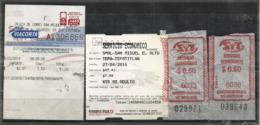 MEXIQUE. Tickets De Bus Au Depart De San Miguel El Alto (Estado De Jalisco) Vers Tepatitlan (JAL) - Monde