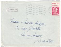 """France - 1956 Muller 15f Rouge Avec BANDE PUB """" Bière Des Gourmets """" De St Cyr Pour Aix En Provence - Publicités"""