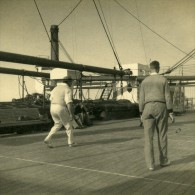 Canadian Pacific Steamship Company Empress Of Britain Volley Ball Ancienne Photo Amateur 1930's - Boats