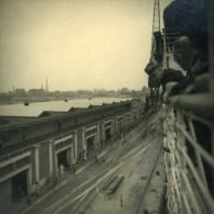 Canadian Pacific Steamship Company Empress Of Britain Quais Detail Ancienne Photo Amateur 1930's - Boats