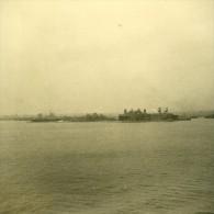 New York Ou Liverpool ? Touriste En Voyage Ancienne Photo Amateur 1936 - Places