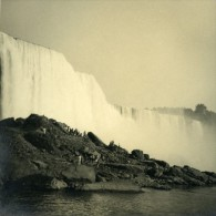 USA Canada Etat De New York Chute Du Niagara Ancienne Photo Amateur 1936 - Places
