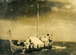 Royaume Uni Broadstairs Viking Drakkar Conquete Ancienne Photo De Presse 1949 - Fotos
