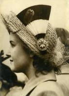 Royaume Uni Londres Chapeau Pour La Visite Du President Auriol Ancienne Photo De Presse 1950