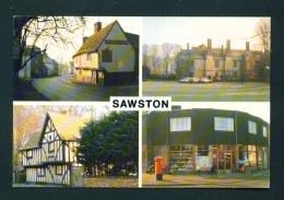ENGLAND  -  Sawston  Multi View  Used Postcard As Scans - England