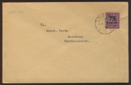 DV3-30c GERMAN EMPIRE 1923 MI SERVICE 91 ON LETTER. USED, GEBR., OBLITERE. DATE 12-07-1923. - Service