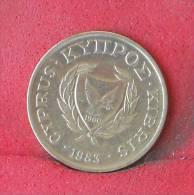 CYPRUS  1  CENT   1983   KM# 53,1  -    (Nº12134) - Cyprus