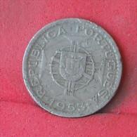 ANGOLA  2,5  ESCUDOS  1953   KM# 77  -    (Nº12168) - Angola