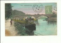 Charenton Le Pont  ( Carte Couleur ) Péniche - Charenton Le Pont
