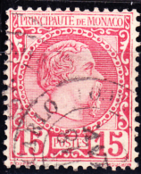 Monaco 1885 Isue 15c Scott #5 Used - Monaco