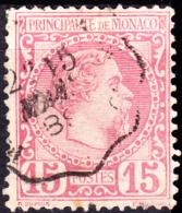 Monaco 1885 Isue 15c Scott #5 Used (2) - Monaco