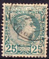 Monaco 1885 Issue 25c Scott #6 Used - Monaco
