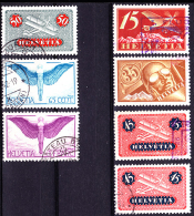 Swiss Airmail  Collection 1923 Series Used - Poste Aérienne