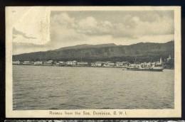 Cpa Antilles Dominique Dominica  Roseau From The Sea , B. W. I .    AA6 - Dominique