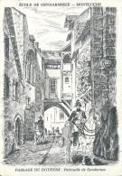 03  MONTLUCON -  Passage  Du Doyenne , Patrouille De Gendarmes ( Voir Verso  ) - Montlucon