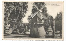 I3395 Spa - Le Pigeonnier Et La Place Royale - Molen Mulino Moulin Windmill / Viaggiata 1962 - Targa Pubblicitaria - Spa