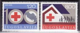 Yugoslavia 1975. 100 Years Of Red Cross, MNH(**) Mi 1619/20 - 1945-1992 République Fédérative Populaire De Yougoslavie