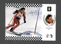 SPORTS - SPORTS D´ HIVER - SKI - DIEGO AMPLATZ - ITALIA - ITALIE - SERIE ESQUI NO 10 - Sports D'hiver
