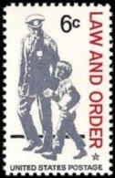 1968 USA Law And Order Stamp Sc#1343 Policeman Boy - Police - Gendarmerie