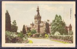 Australia 1952 University Grounds. Melbourne Postcard - Used - Melbourne