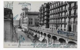 ALGER - N° 84 - LE GRAND HOTEL REGINA ET LA POSTE - CPA VOYAGEE - Algiers