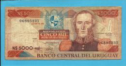URUGUAY - 5 000 - 5000 Nuevos Pesos - ND 1983 - Pick 65 - Serie C - General Juan Antonio Lavalleja - 2 Scans - Uruguay