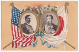 USA - President Theodore Roosevelt & Generalissimo Mutsuhito (Emperor Meiji) Of Japan, Japan's Vintage Postcard - Présidents