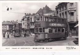 TRAMS AT GREENWICH. PAMLIN M517 - London Suburbs