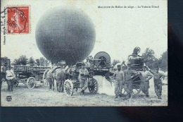 CHALONS BALLON MANOEUVRES CAMP  CP  ORIGINALE ECRITE MR BAZIN 39 EME ARTILLERIE DE NEUFCHATEAU 88 - Châlons-sur-Marne