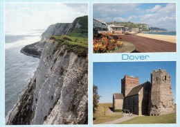 Postcard - Dover (Castle/Cliff/Seafront/Lighthouse/Church), Kent. C12498 - Dover