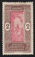 DAHOMEY - Scott #43 Man Climbing Oil Palm (*) / Mint H Stamp - Unused Stamps