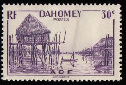 DAHOMEY - Scott #119  Pile House / Mint H Stamp - Unused Stamps